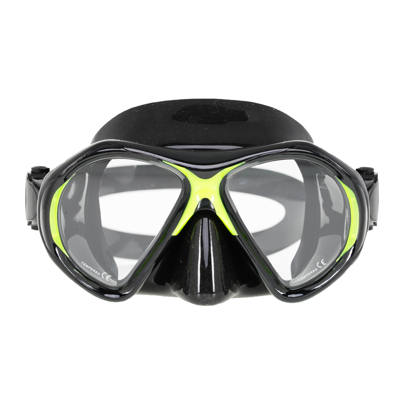 картинка Маска Marlin Superba Black/Yellow от магазина DivingWolf